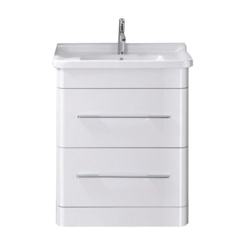 Eclipse 600mm Floor Standing Cabinet & Basin - 1 Tap Hole